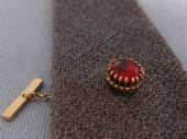 Sophos Vintage Tie Tack - Gold Plated with Red Jewel circa 1960s - 70s (SOLD)